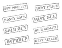 Set rubber stamps Royalty Free Stock Image