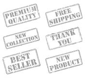 Set rubber stamps Royalty Free Stock Images