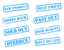 Set rubber stamps Royalty Free Stock Photography