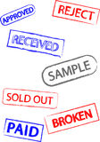 Set of Rubber Stamps Royalty Free Stock Photos