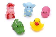 Set of rubber toy Royalty Free Stock Image