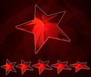 set rubinowa gwiazda Fotografia Royalty Free