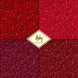 Set of ruby texture. Set of ruby sparkles texture with shine, glossy confetti, glitter background. Vector illustration seamless pattern, glamour style for your Royalty Free Stock Images
