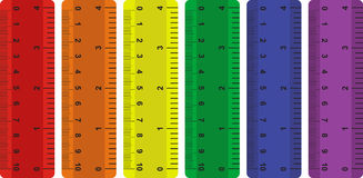 Set of rulers. Vector illustration Stock Photos