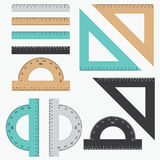 Set of rulers. Royalty Free Stock Image