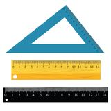Set of rulers Stock Photos