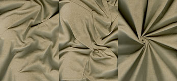 Set of rumpled grayish orange suede leather textures Stock Image