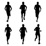 Set of running marathon Stock Photography