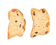 Set rusks isolated over the white background Stock Photos