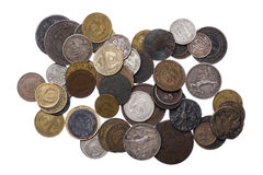 Set of Russia coins close up Royalty Free Stock Images