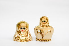 Set of Russian dolls. Set of painted russian dolls Royalty Free Stock Images