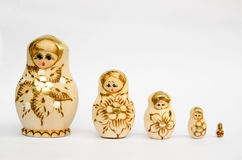 Set of Russian dolls. Set of painted russian dolls Stock Photo
