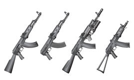 Set of russian guns Royalty Free Stock Image