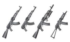 Set of russian guns Royalty Free Stock Image