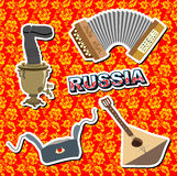 Set russian icons Royalty Free Stock Images