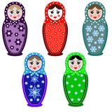 Russian dolls - matryoshka. Vector illustration stock illustration