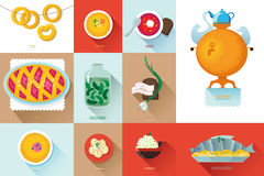 Set Russian national food. Illustration  cuisine Royalty Free Stock Photography
