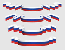 Set of russian ribbons in flag colors. Stock Photography