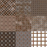 Set of rusted iron plate seamless generated textures Royalty Free Stock Image