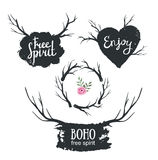 Set rustic logo elements. Stock Photography