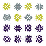 Set of rustic patterns. Illustration Stock Photography