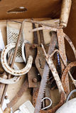 Set of rusty old tools Royalty Free Stock Images