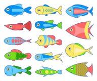Set ryba Zdjęcie Stock