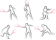 Set gracz w tenisa Obraz Stock