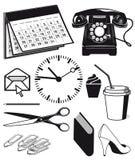 Biurowe dostawy i grafika royalty ilustracja
