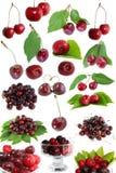 set sötsak för Cherry Arkivfoto