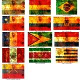 Set südamerikanische Markierungsfahnen Lizenzfreies Stockbild