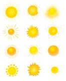 Set słońce Zdjęcia Royalty Free