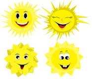 Set słońce Obrazy Stock