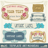 Set S Art Nouveau Royalty Free Stock Photos
