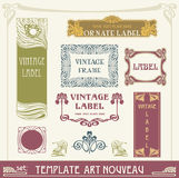 Set s art nouveau Royalty Free Stock Photography