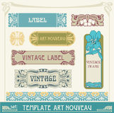Set S Art Nouveau Royalty Free Stock Photo