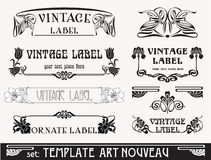 Set S Art Nouveau Stock Photography