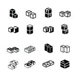 Set of s box interlace icons Royalty Free Stock Photos