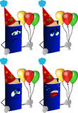 Set of sad birthday book Royalty Free Stock Images