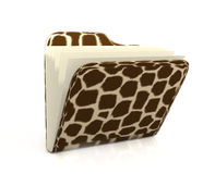 Set of a safari. A folder with fur a giraffe Royalty Free Stock Photography