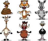 Set of Safari Animals. A collection of 6 Safari Animals Royalty Free Stock Images