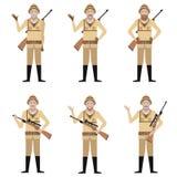Set of Safari Hunters. Vector image of the Set of Safari Hunters Royalty Free Stock Image
