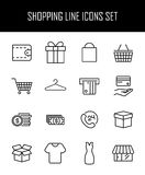 Set of safeguard icons in modern thin line style. Royalty Free Stock Photos