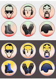Set safety equipment icon isolated Royalty Free Stock Image