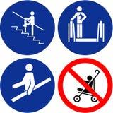 Set of safety symbols Royalty Free Stock Image