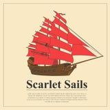 Set of sailing boat and nautical logos. Royalty Free Stock Photo