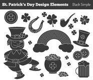 Set of Saint Patricks Day design elements Royalty Free Stock Photos