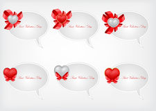 Set of Saint Valentine's speech bubbles Royalty Free Stock Photo