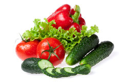 Set for salad Royalty Free Stock Images
