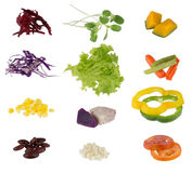 Set of salad vegetable Royalty Free Stock Photos
